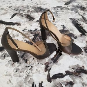 Gucci ankle strap sandals heels, rare vintage